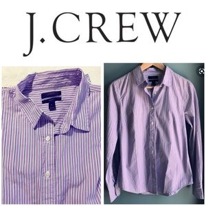 J CREW botton down striped t- shirt
